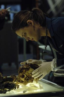 "BONES - Emily Deschanel as Dr. Temperance Brennan in ""The Boy in the Time Capsule"""