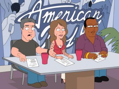 FAMILY GUY - AMERICAN IDOL judges Simon Cowell, Randy Jackson and Paula Abdul in Lois Kills Stewie