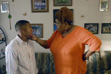 """FRIDAY NIGHT LIGHTS - Gaius Charles as Brian """"Smash"""" Williams and LIz Mikel as Corrina in """"Seeing Other People"""""""