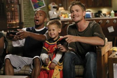 "ONE TREE HILL - Antwon Tanner as Skills, Jackson Brundage as Jamie, and Chad Michael Murray as Lucas in ""4 Years, 6 Months, 2 Days"""