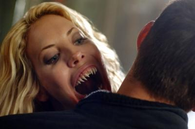 "SUPERNATURAL - Mercedes McNab as Lucy and Jensen Ackles as Dean Winchester in ""Fresh Blood"""