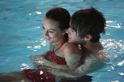 "GOSSIP GIRL -  Leighton Meester as Blair and Chace Crawford as Nate in ""School Lies"""