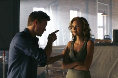 "ONE TREE HILL - Chad Michael Murray as Lucas and Hilarie Burton as Peyton Sawyer ""Racing Like a Pro"""