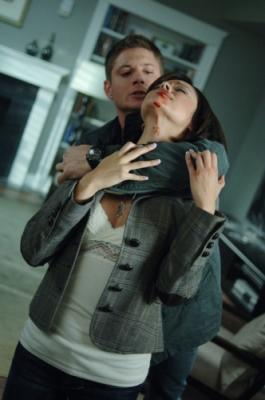"SUPERNATURAL -  Jensen Ackles as Dean Winchester and Marisa Ramirez as Tammi in ""Malleus Maleficarum"""