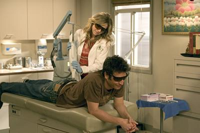 "HOW I MET YOUR MOTHER -  Josh Radnor as Ted and Sarah Chalke as Stella in ""Ten Sessions"""