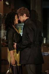 Jessica Szohr as Vanessa and Chace Crawford as Nate