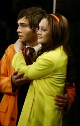 Ed Westwick as Chuck, Leighton Meester as Blair