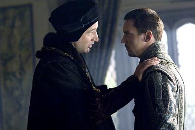 THE TUDORS - Jeremy Northam as Sir Thomas Moore and Jonathan Rhys Meyers as Henry VIII  in (Season 2 Episode 2)