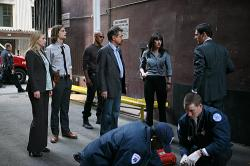 Agents Jareau (A.J. Cook), Reid (Matthew Gray Gubler), Morgan (Shemar Moore), Rossi (Joe Mantegna), Prentiss (Paget Brewster) and Hotchner (Thomas Gibson)