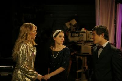 Blake Lively as Serena , Leighton Meester as Blair and Ed Westwick as Chuck