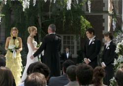 Blake Lively as Serena, Kelly Rutherford as Lily, Robert John Burke as Bart, Ed Westwick as Chuck and Connor Paolo as Eric