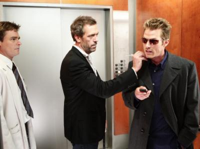 House (Hugh Laurie) and (Jason Lewis)