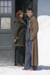 Catherine Tate as Donna Noble and David Tennant as The Doctor