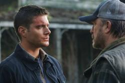 Jensen Ackles as Dean and Jim Beaver as Bobby