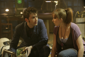 David Tennant as The Doctor, Catherine Tate as Donna Noble