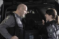 Flashpoint - Ed Lane (Hugh Dillon) and Jules Callaghan (Amy Jo Johnson)