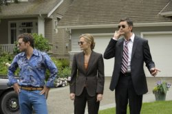 Psych - James Roday as Sean Spencer, Maggie Lawson as Juliet O\'Hara, Tim Omundson as Carlton Lassiter