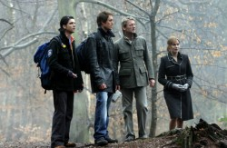 Primeval - Connor (Andrew Lee Potts), Stephen (James Murray), Cutter (Douglas Henshall), Claudia (Lucy Brown)