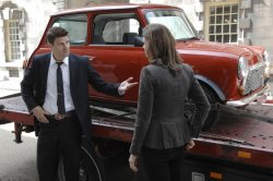 Booth (David Boreanaz) and Brennan (Emily Deschanel)