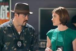 David Zayas as Angel and Jennifer Carpenter as Debora