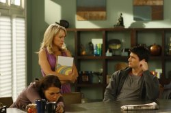 One Tree Hill - Bethany Joy Galeotti as Haley, Barbara Alyn Woods as Deb Scott and James Lafferty as Nathan