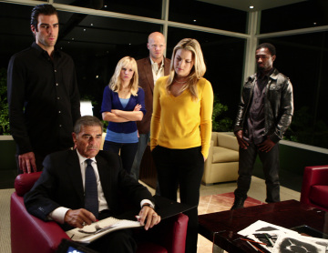 Robert Forster as Arthur Petrelli, Zachary Quinto as Sylar, Kristen Bell as Elle, Blake Shields as Flint, Ali Larter as Tracy Strauss, Jamie Hector as Knox