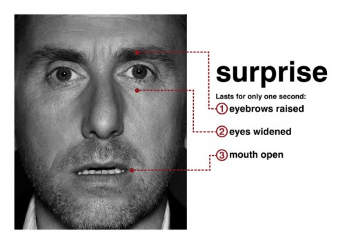 Tim Roth (Dr. Cal Lightman) portrays surprise in Lie To Me