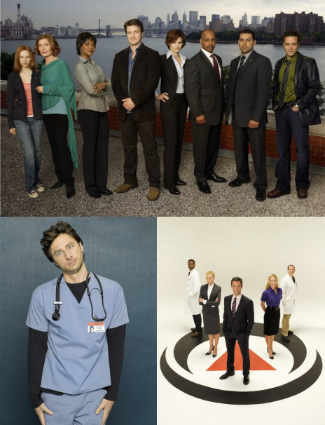 Castle, Scrubs, Better Off Ted