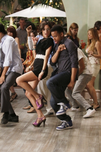 Jessica Stroup as Silver and Tristan Wilds as Dixon on 90210