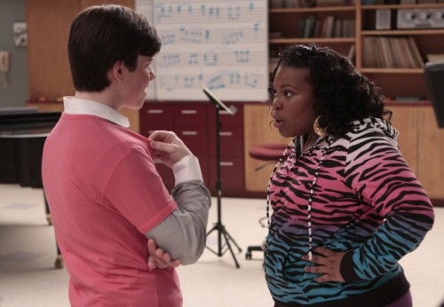 Chris Colfer and Amber Riley