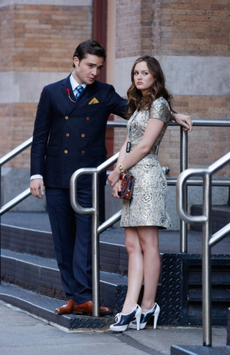 Ed Westwick as Chuck and Leighton Meester as Blair
