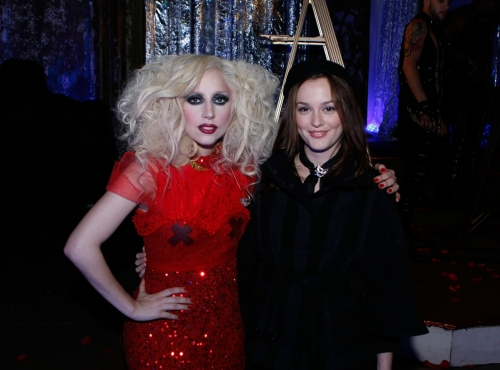 Lady Gaga and Leighton Meester