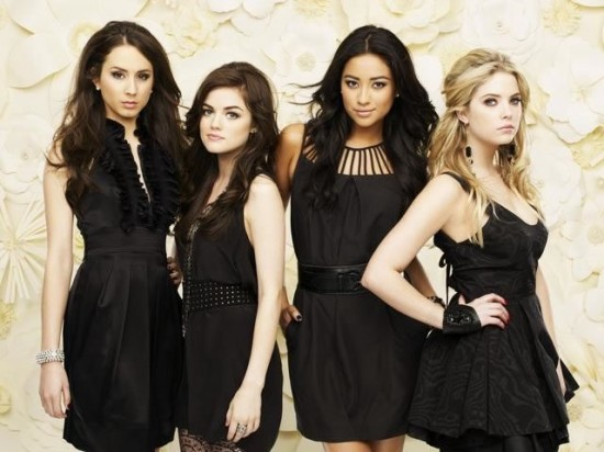 Troian Bellisario, Lucy Hale, Shay Mitchell, and Ashley Benson