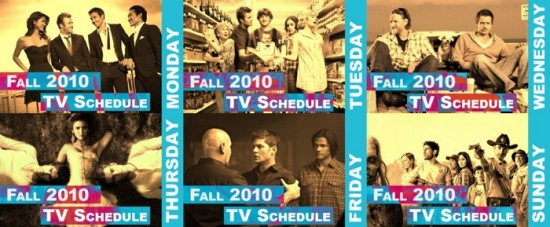 Fall 2010 TV Schedule