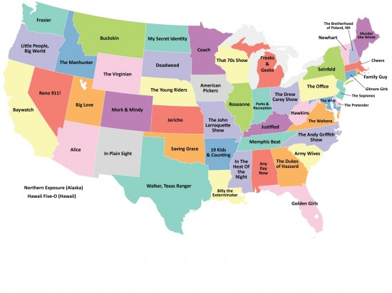 The United States of TV Map