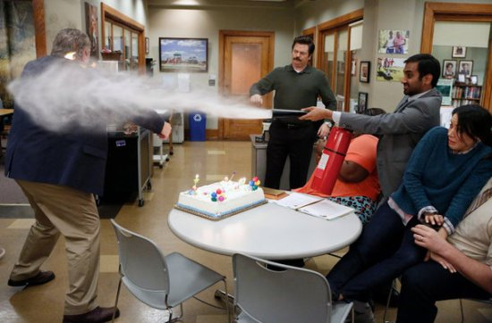Parks and Recreation Season 5 Episode 18 & 19 Article Two; Jerry's Retirement (5)
