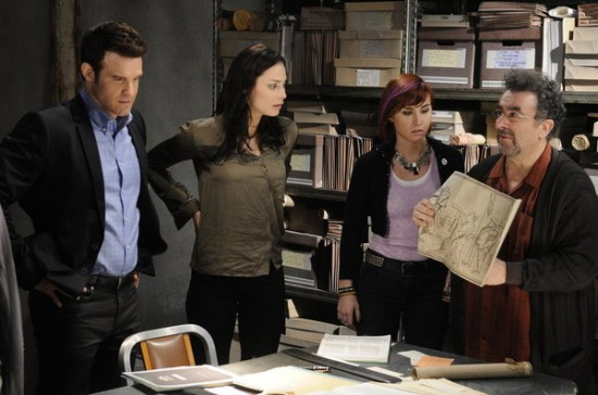 Pete, Myka, Claudia, Artie - Warehouse 13