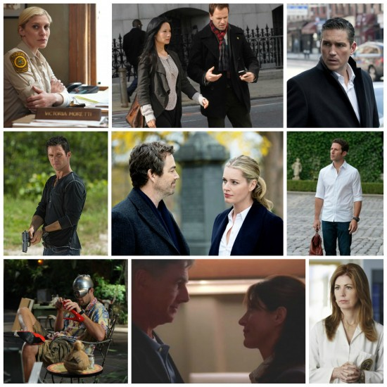Longmire, Elementary, Person of Interest, Burn Notice, King and Maxwell, Royal Pains, The Finder, NCIS, Body of Proof