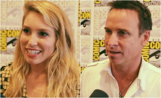 falling skies comic-con 2013 interviews Sarah Carter and Colin Cunningham