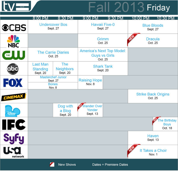 TV Equals Schedules Fall 2013 Friday
