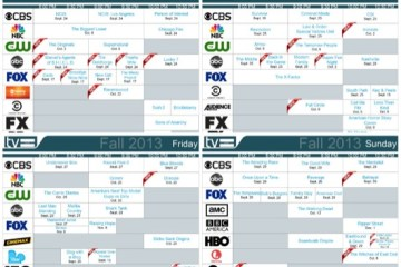 fall 2013 daily tv schedules