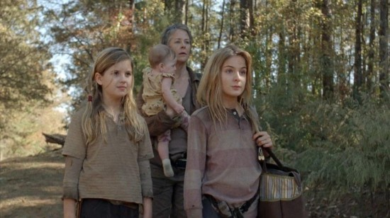 Mika, Lizzie, Judith and Carol - The Walking Dead