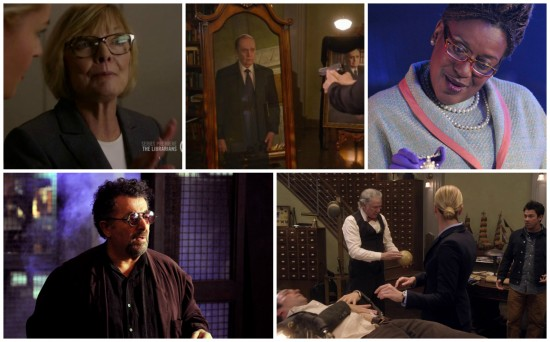 Charlene, Judson, Mrs. Frederic, Artie, Jenkins, Eve, Flynn, Jacob - Warehouse 13 and The Librarians