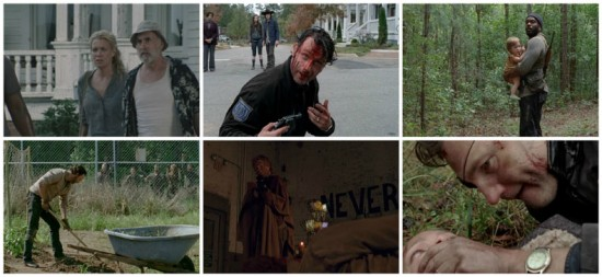 Rick, Judith, Tyrese, Dale, Andrea, the Governor - The Walking Dead
