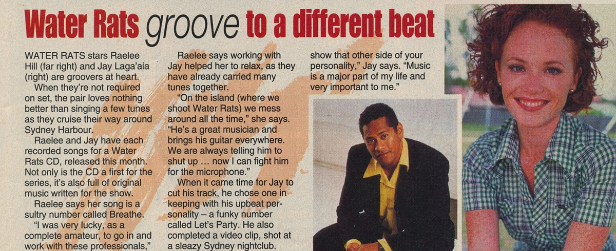 """TV Week: """"Water Rats groove to a different beat"""" Water Rats May 8th 1999"""