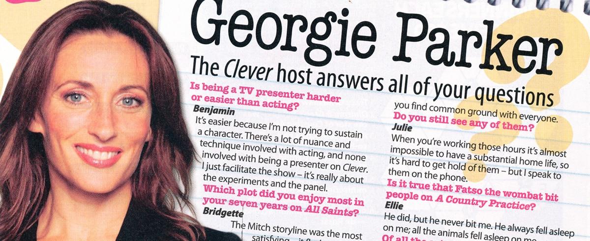 "TV Week: ""You asked: Georgie Parker"" 8th April 2006"