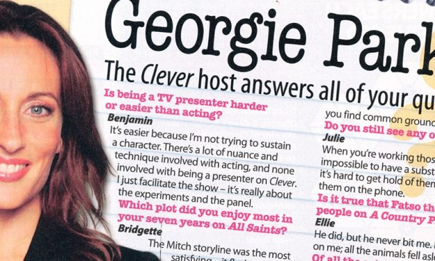"TV Week: ""You asked: Georgie Parker"" 8th April 2006"