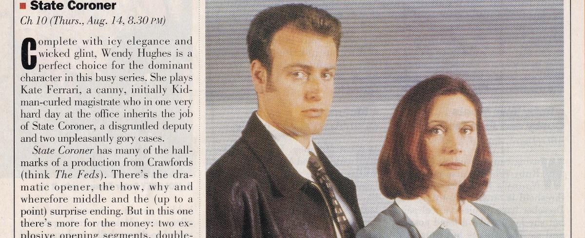 """State Coroner"" State Coroner 14th August 1997"