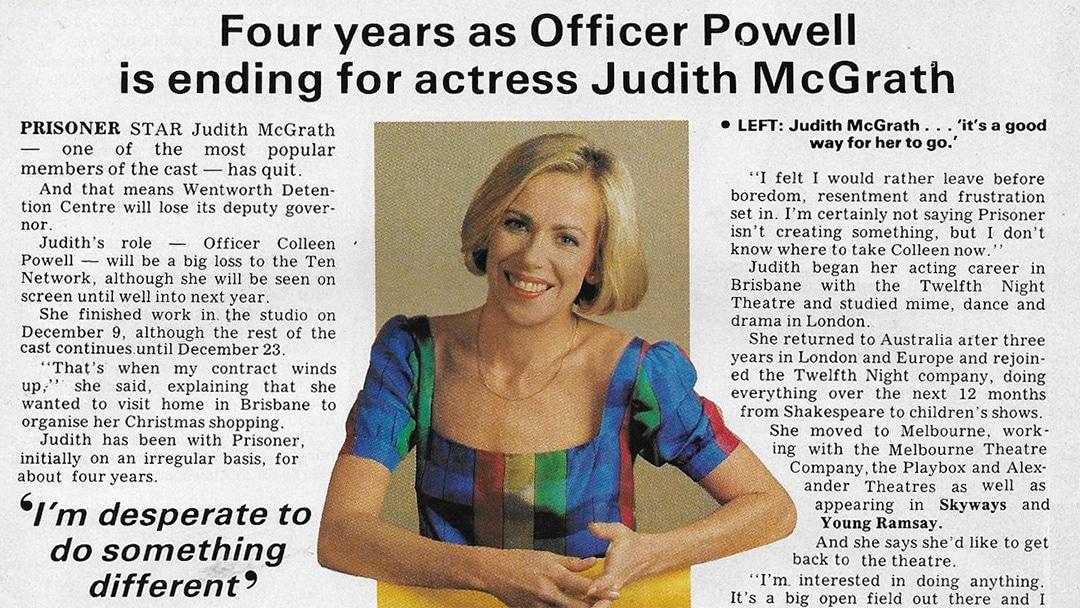 """TV Week: """"Jail Deputy Quits Prisoner"""" Prisoner 10th December 1983"""