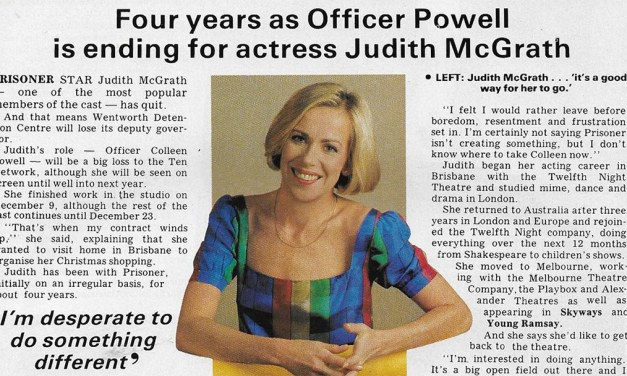 "TV Week: ""Jail Deputy Quits Prisoner"" Prisoner 10th December 1983"